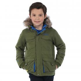 Boys Capton Parka Jacket Cypress Green