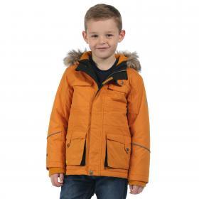 Boys Capton Parka Jacket Golden Oak
