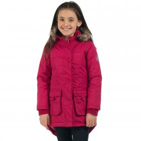 Girls Totteridge Parka Jacket Dark Cerise