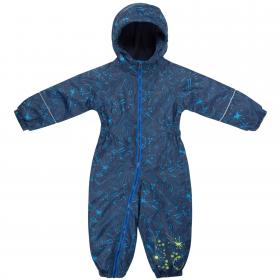 Printed Splat Rain Suit Navy Galaxy Print