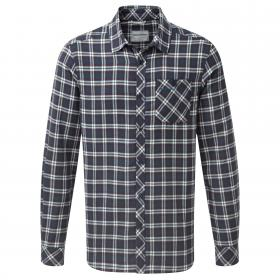 Brigden Long Sleeved Check Shirt Storm Navy