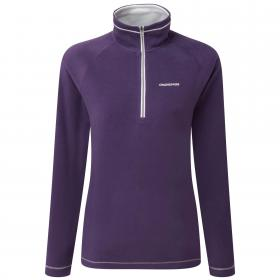 Seline Half Zip Dark Plum