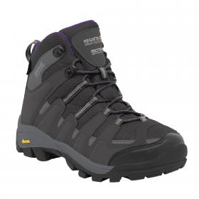 Lady Burrell Walking Boot Steel   Purple