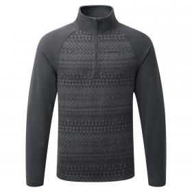Elliston Zip Neck Jumper Black Pepper