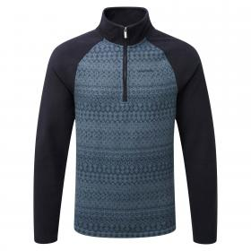 Elliston Zip Neck Jumper Storm Navy