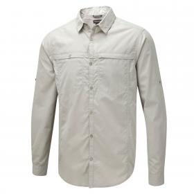 Craghoppers Kiwi Trek Long-Sleeved Shirt - Parchment