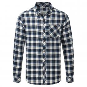 Kearney Long Sleeved Check Shirt Dark Navy