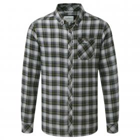 Kearney Long Sleeved Check Shirt Quarry Grey