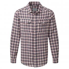Kiwi Long Sleeved Check Shirt Oxblood