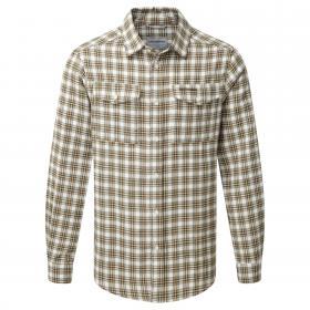 Kiwi Long Sleeved Check Shirt Espresso Brown