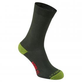 Single NosiLife Travel Sock Dark Khaki