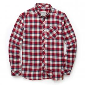 Kearney Long Sleeved Check Shirt Maple Red