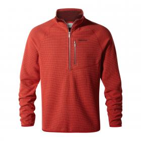 Liston Half Zip Barn Red