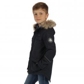 Boys Capton Parka Jacket Navy