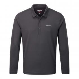 Craghoppers NosiLife Nemla Long Sleeved Polo Shirt - Black Pepper