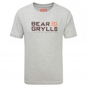 Bear Graphic Tee Light Grey Marl