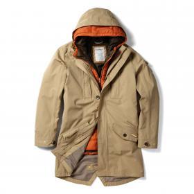 364 3 in 1 Hooded Jacket Camel Orange