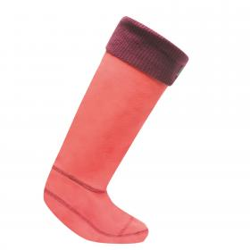 Regatta Knitted Cuff Wellington Sock - BrightBlush Blkc