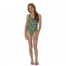 Girls Diver Swimming Costume Oxford Blue
