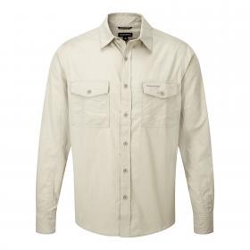 Craghoppers Kiwi Long-Sleeved Shirt - Oatmeal