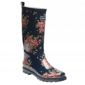 Lady Fairweather Wellington Boot Navy Floral