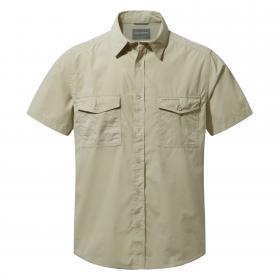 Craghoppers Kiwi Short-Sleeved Shirt - Oatmeal