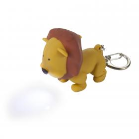 Animal Key Ring Torch - Lion(Tan)