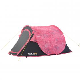 Malawi 2 Man Pop Up Print Tent - Pink Seal Grey