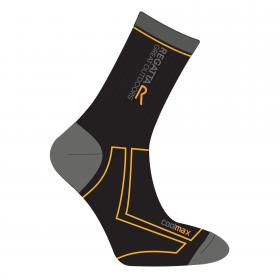 Regatta Mens 2 Season Coomax Trek & Trail Sock - Black GoldHeat