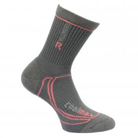 Regatta Womens 2 Season Coolmax Trek & Trail Socks - Iron