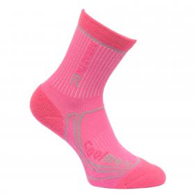 Regatta Kids 2 Season Coolmax Trek & Trail Sock - Raspberry Rose Jem