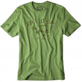 Life is Good Crusher T-Shirt - Grassy Green