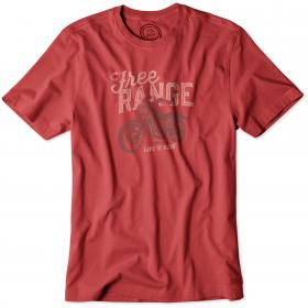 Life is Good Crusher T-Shirt - Nantuket Red