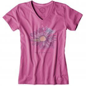 Life is Good Ladies Crusher T-Shirt - Fresh Raspberry