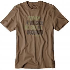 Life is Good Crusher T-Shirt - Dark Brown