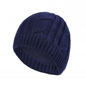 Waterproof Cable Knit Beanie - Blue