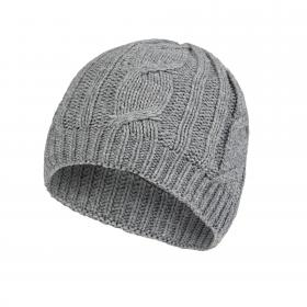 Waterproof Cable Knit Beanie - Grey