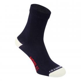 Single NosiLife Travel Sock Soft Navy