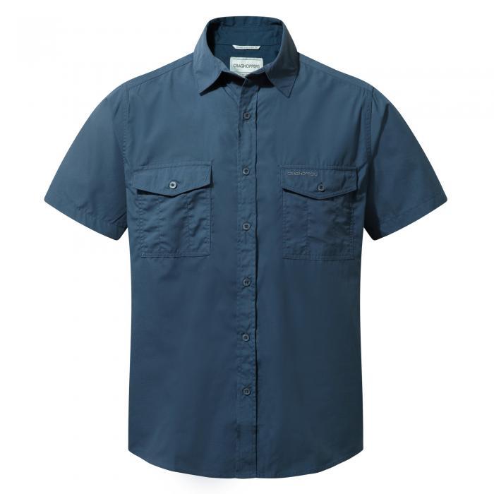Craghoppers Kiwi Short-Sleeved Shirt - Faded Indigo