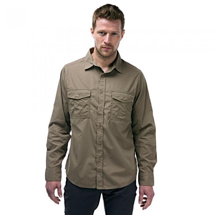 Craghoppers Kiwi Long-Sleeved Shirt - Pebble