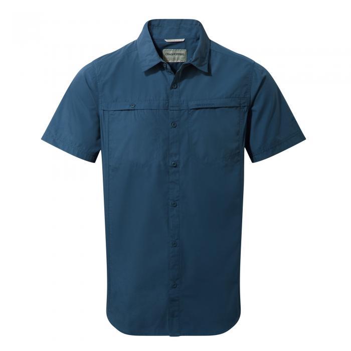 Kiwi Trek Short Sleeved Shirt Vintage Indigo