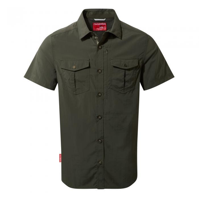 NosiLife Adventure Short Sleeved Shirt Dark Khaki