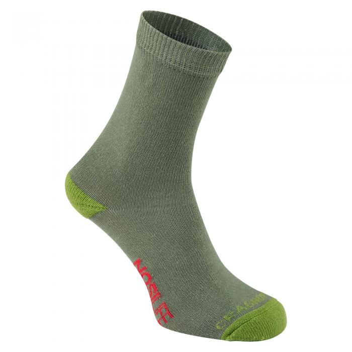 NosiLife Kids Single Travel Sock Dark Khaki