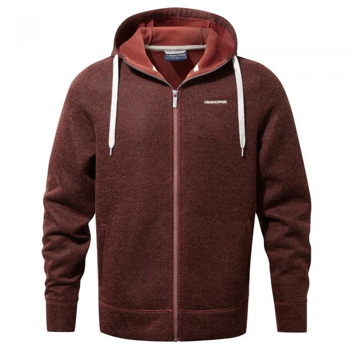 Mason Hooded Jacket Carmine Red