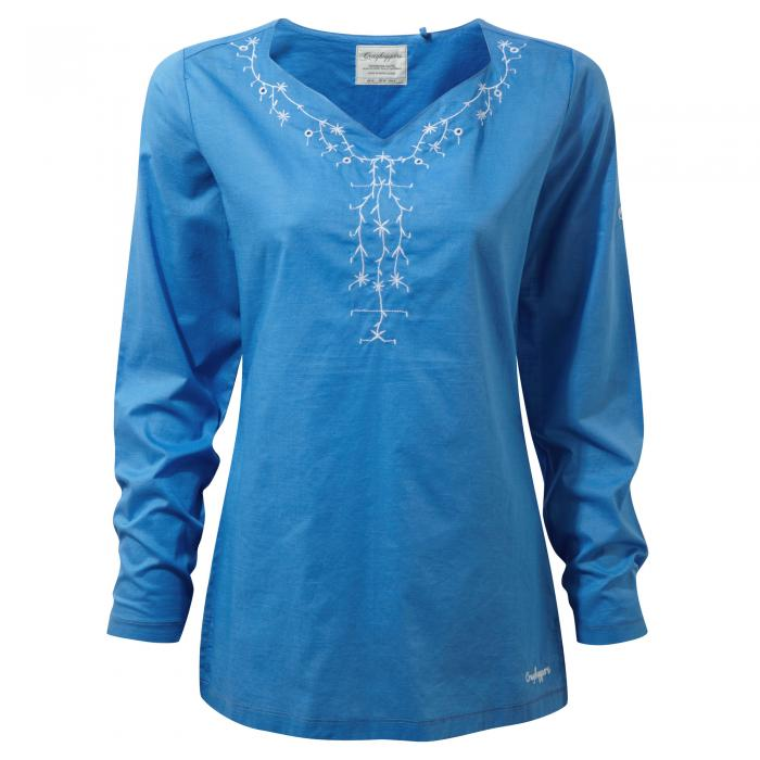 Rayna Long Sleeved Top Bluebell