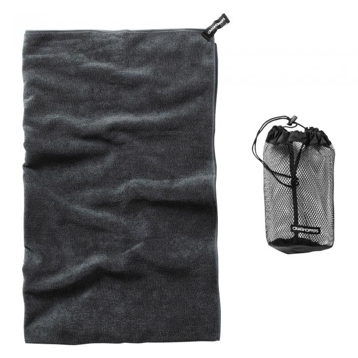 Super Large Microfibre Travel Towel Charcoal