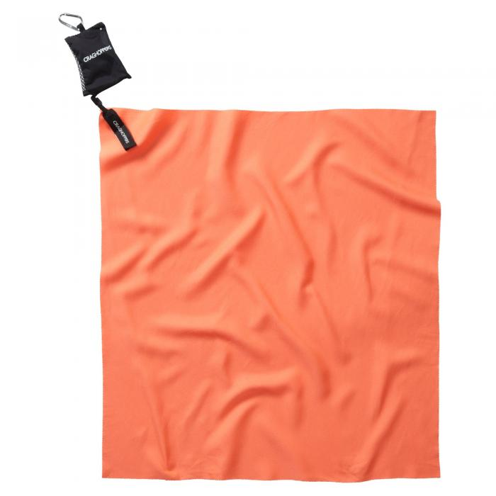 Compact Travel Towel Orange