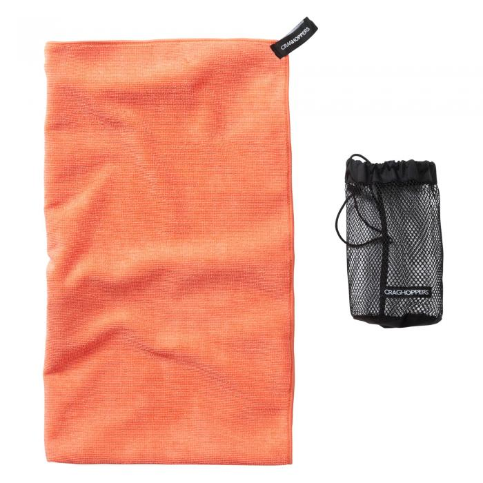 Large Microfibre Travel Towel Orange