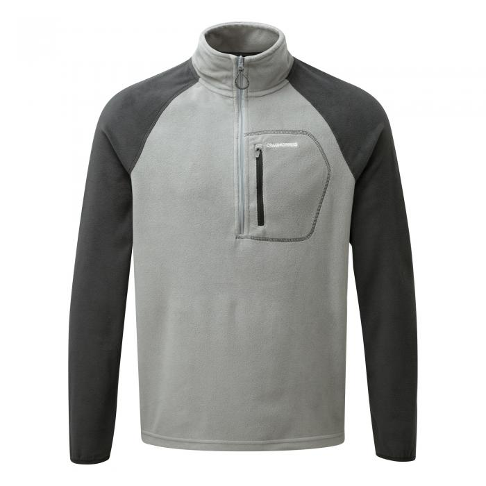 C65 Half Zip Quarry Grey Black