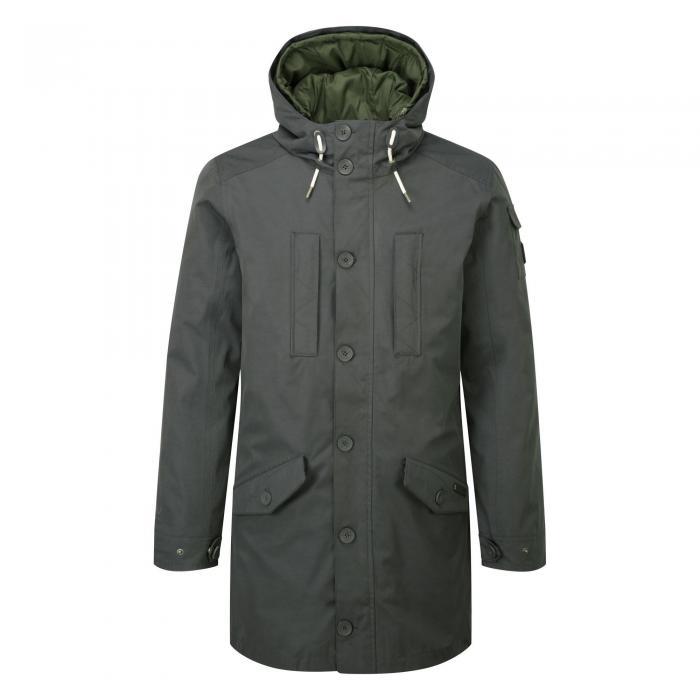 364 3 in 1 Hooded Jacket Dark Khaki